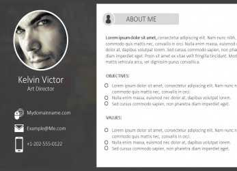 Praktisch Comprehensive Resume PowerPoint Templates; Complete Resume, All Type Of Jobs; Ready Made CV, Employees