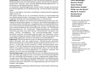 Prämie (PDF), FacharztDuell: Innovative Career Counselling In Medicine